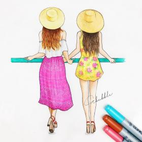 friends friend forever drawings bff friendship drawing cartoon bestie travel easy dream bffs tag comment cute draw sketch venner sketches