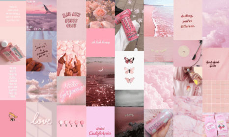 Pink Aesthetic Macbook Wallpaper Collage Novocom Top Collage, wallpaper, macbook, computer, laptop, aesthetic, colorful, butterflies, christian, jesus, god is good. pink aesthetic macbook wallpaper