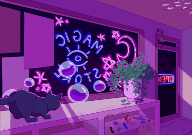 aesthetic witch purple anime desktop wallpapers treat computer backgrounds quiet witches vaporwave witchy popy magick coven encantamento oracle villain research
