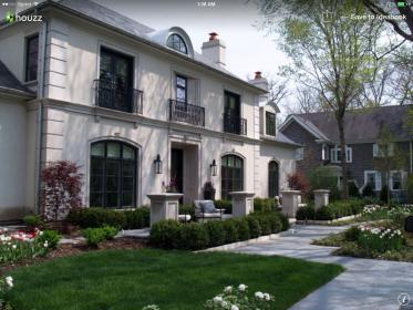 exterior stucco french traditional windows chateau chicago balcony homes fachadas columns finishes entry houses balconies houzz iron colors technique inspired