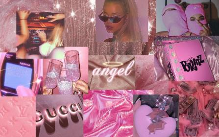 aesthetic laptop desktop macbook collage computer barbie soft