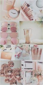 girly collage iphone gold rose wallpapers aesthetic backgrounds background cool makeup pink livewallpaperhd pretty resolution screensaver ipad phone screen lock