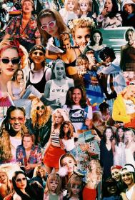 aesthetic collage 90s retro wallpapers backgrounds iphone collages colagem pantalla fondos abstract arte clueless rad visitar imagens parede cristina salvo