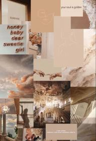 aesthetic brown collage cream desktop soft neutral warm iphone tones serenity colors resistance wallpapers backgrounds perfect luknav