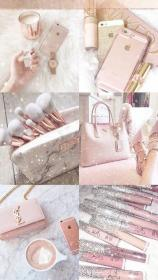 gold cute wallpapers iphone aesthetic girly rose backgrounds things makeup screen lock uploaded user mobile ipad