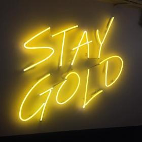 neon aesthetic yellow gold instagram colors words rainbow nails quotes ponyboy change grunge