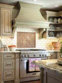hood kitchen hoods range wood vent decorative traditional designs country homedit decor oven custom kitchens functional both french cabinets houzz