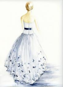 drawing pencil drawings gowns drawn bridal sketches paintings
