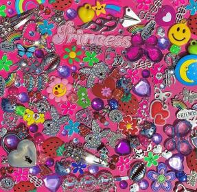 aesthetic iphone eye wallpapers spy rainbow collage boujee pink abbie little bad