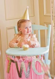 birthday toddler party 2nd pink gold parties themes years theme princess golden bday bridget decoration turning second nursery project