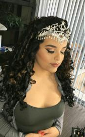 hairstyles quinceanera quince hair sweet xv hairstyle curly styles peinados crown crowns short damas para hairdos quinceanera side headpieces anos