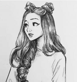 drawing pencil drawings drowing sketches girly realistic cartoon portrait anime
