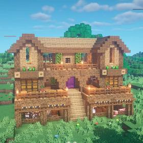 minecraft wooden survival base cottage houses tutorial mansion medieval minecraftbuilds might ultimate fence plans nuhcan doing
