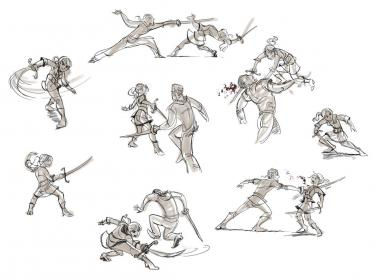 drawing sword poses fight reference references cool character manga training drawn fighting sketch action drawings sketches cartoon anime swords characters