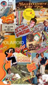 aesthetic collage 70s wallpapers iphone trendy retro phone hippie backgrounds quotes uploaded user