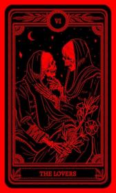 aesthetic lovers devil tarot grunge goth wallpapers iphone phone horror backgrounds
