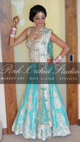 indian teal lengha gold dresses outfits bridal reception silver bollywood colour pakistani dark obsessed suits asian lehenga desi