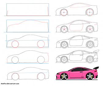 Race Car Easy Drawing For Kids Step By Step Novocom Top