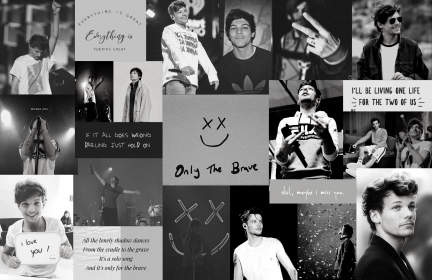 louis tomlinson aesthetic collages direction collage harry brave desktop computer october