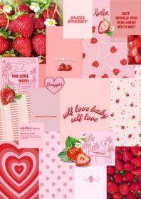 Aesthetic moodboard ~strawberry themed~ Strawberry