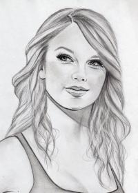 drawing pencil drawings face sketch sketches famous swift taylor easy realistic pretty coloring portrait visit
