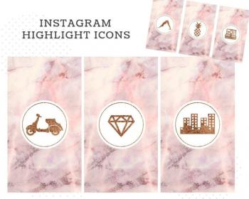 highlight marble covers icons shewillspill highlights bonus templates template social