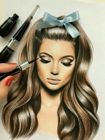 pencil drawings drawing amazing portraits realistic hair sketches portrait makeup illustration dream uploaded user