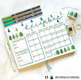 bullet journal spread monthly december creative notes juelzjohn thoughtsbucket