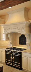 kitchen stove range hoods hood country french cabinets oven kitchens cooker vent decorative ornate luxury gorgeous corbels between remodel decor