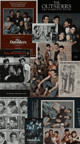 aesthetic movie collage retro 80s movies backgrounds outsiders wallpapers theoutsiders uploaded