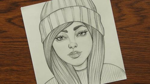 draw cap wearing drawing pencil sketches drawings sketch wear faces