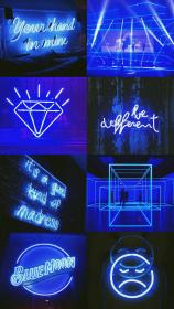 aesthetic neon dark wallpapers iphone collage backgrounds desktop pastel blues android planet navy flip cjf aesthetics theme ℒℴѵℯ kb wallpaperaccess
