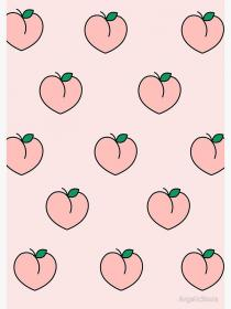 aesthetic pink peaches peach pastel baby backgrounds spiral notebook cute wallpapers quotes print redbubble