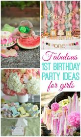 birthday party 1st baby turns parties themes cake decorations diy tea birthdays decoration special bday gold fabulous st food babies
