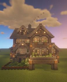 minecraft mansion houses survival building really tutorial rustic yard tutorials usually entrance turned build mods madera cottage town exterior piedra