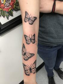 butterfly tattoo tattoos forearm butterflies dope poke cute pretty sleeve colorful grey face shoulder mens sunflower forever flying random discover