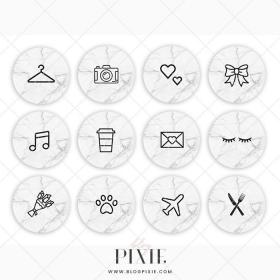highlight icons covers icon marble makeup symbols vectorified bigricho