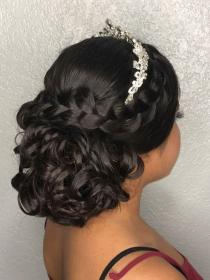 hairstyles quince updo hairstyle sweet quinceanera braid short bridal tiara styles braided
