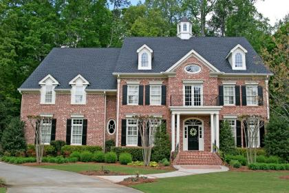 brick colonial story traditional exterior landscaping nice exteriors brown plans roof suburban landscape bricks flickr clay colors