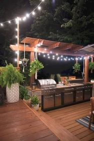 outdoor kitchen cooking area summer backyard areas very equipment well kitchens living developed cabinets