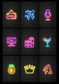 Neon Part 1 Instagram Story Highlight Covers Etsy in