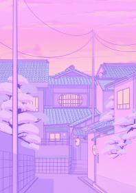 aesthetic pastel anime purple wallpapers cute japanese backgrounds iphone peach kawaii elora discover