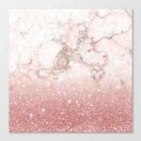 marble glitter rose gold ombre elegant faux canvas print society6 aesthetic backgrounds stay positive apple iphone artwork tree