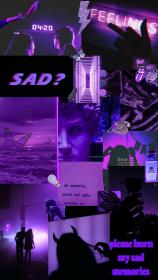 aesthetic purple dark iphone grunge wallpapers pink collage violet backgrounds edgy desktop retro quotes bad mystery october trippy emoji computer