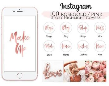 Weiße Minimal Instagram Highlight Cover, Highlight Icons
