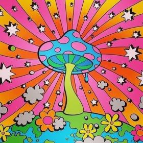 painting trippy hippie drawings drawing psychedelic aesthetic mushrooms collage ava arte mushroom dibujos zeichnungen psychedelische stoner lienzo paint hippies cuadros