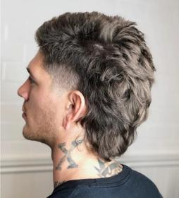 hairstyles curly mohawk mullet hairstyle beard menshairstyletrends bob