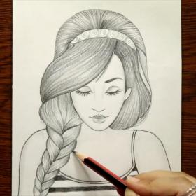 pencil drawing hairstyle drawings sketches simple sketch realistic creative girly fashiontrends blogotv colorful princess
