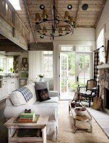 cottage living cozy rustic lake decorating rooms cabin spaces mountain farm garden end dead