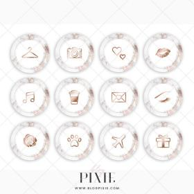 instagram highlight icons marble gold rose highlights story background pink covers dusty blogpixie makeup stories email pixie nails